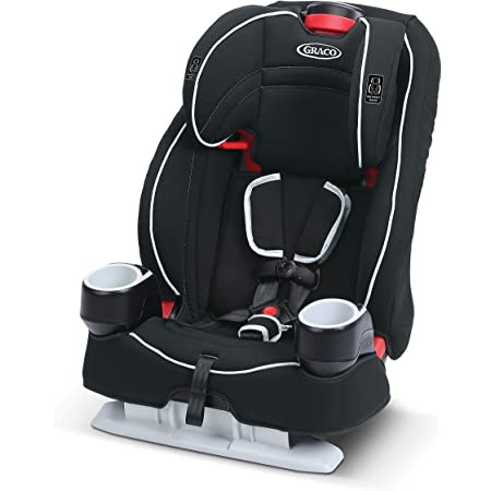 Graco Atlas 65 2 in 1 Harness Booster Seat | Harness Booster and High Back Booster in One, Glacier , 19x22x25 Inch (Pack of 1)