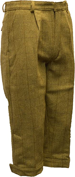 1920s Men's Pants History: Oxford Bags, Plus Four Knickers, Overalls Walker and Hawkes Mens Derby Tweed Shooting Plus Fours Breeks Trousers  AT vintagedancer.com