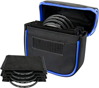 TRENDBOX Camera Lens Case 6-Pocket, Camera Filters Case for Filters Up to 100mm, Travel Carry Lens Pouch with Water-Resist...
