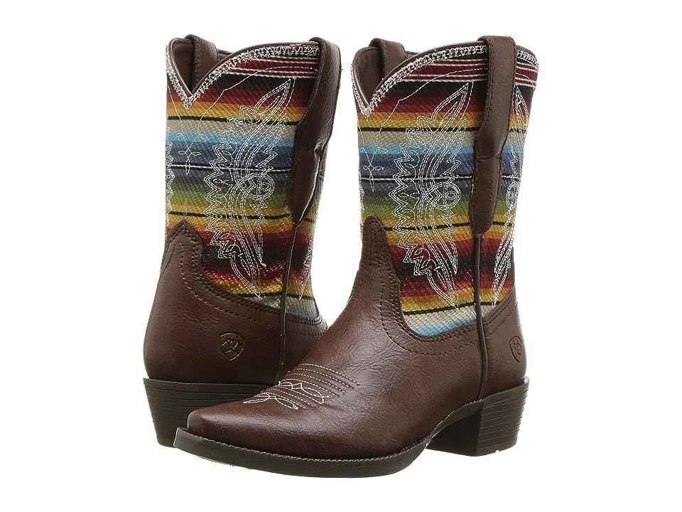 Ariat Kids Stella (Toddler/Little Kid/Big Kid) (Bright Brown/Old Serape Print) Cowboy Boots