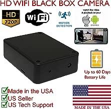 SecureGuard HD 720P Xtra Long Battery Life WiFi Battery Powered Black Box DIY Hidden Spy Camera (60 Day Battery, 16GB SD, 720P Resolution)