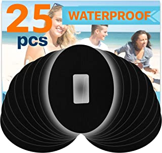 Fixic Patches for G4 G5 - Waterproof Adhesive - Oval - Pre Cut - Best Fixation for G4 G5 - Pack of 25 (Black)