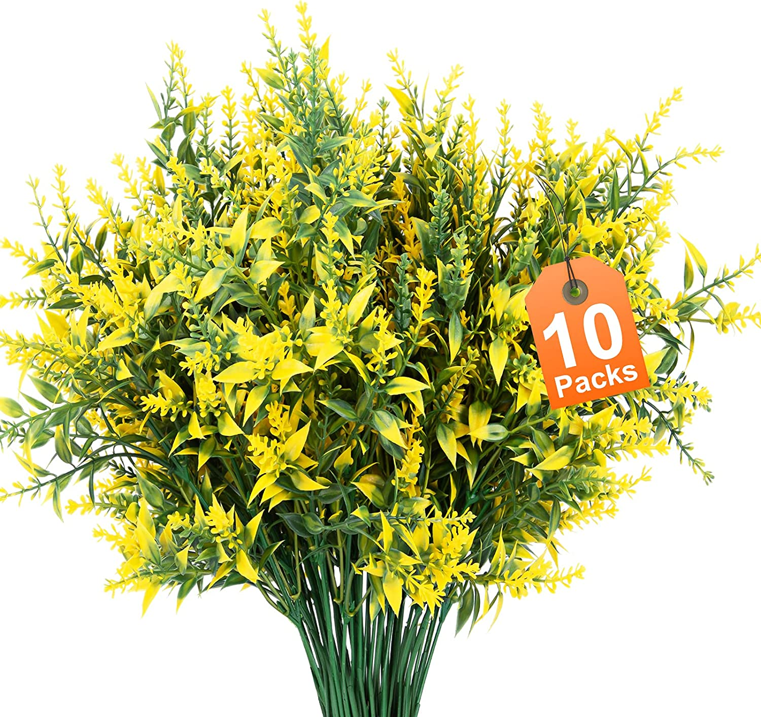 Artificial Department store New life Flowers 10 Packs Outdoor Resista Faux UV Fake