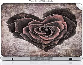 Laptop VINYL DECAL Sticker Skin Print Vintage Rose Heart fits Compaq Presario CQ57