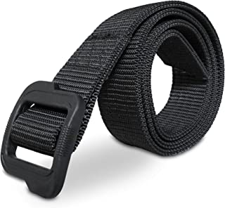 Heavy Duty EDC Tactical Belt - Two-Layer Reinforced Nylon with No Metal - Stiffened for Concealed Carry EDC Holsters Pouches Security Military Wilderness