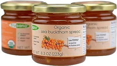 FRUSANO Set of 3 Organic Sea Buckthorn Spread Made in Europe 8.3oz | USDA Organic Natural Jam Sweet Real Taste Gluten & La...