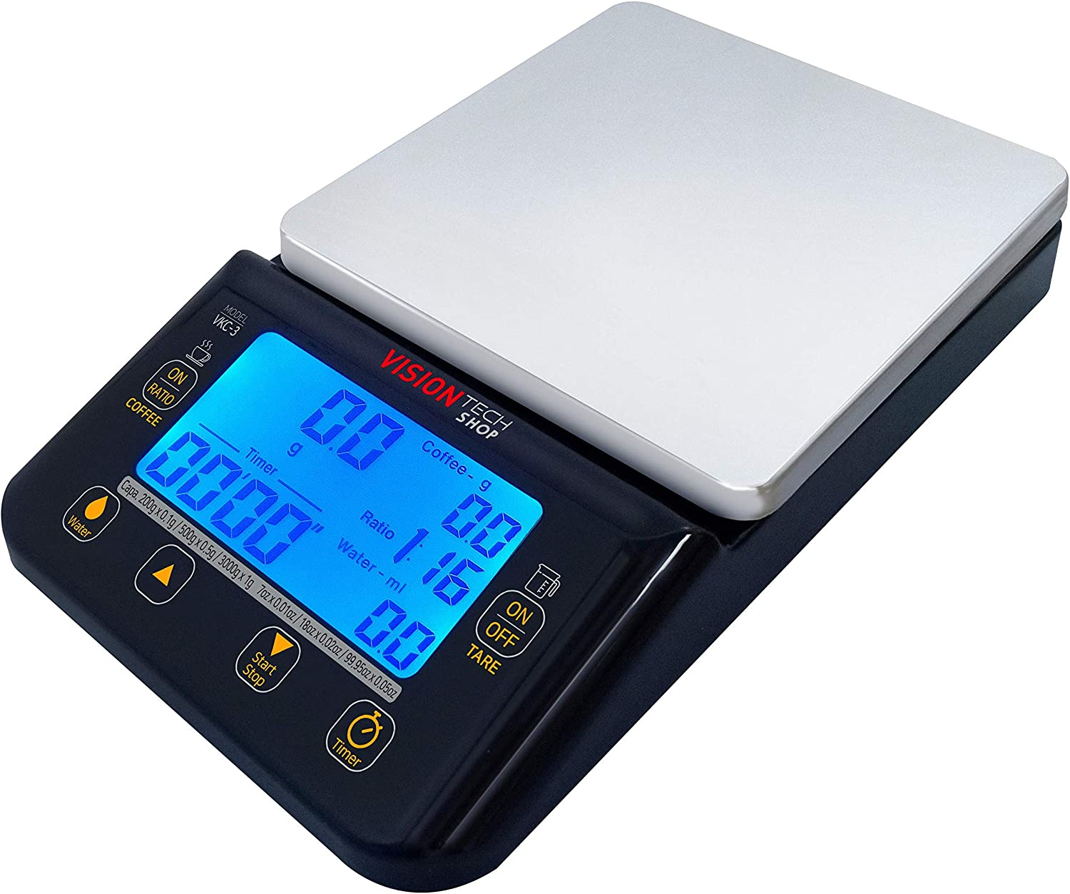 VisionTechShop VKC-3 Coffee Scale with Timer, Hand Drip Coffee S