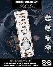 Star Wars Cross Stitch Kit 'PORG' - DIY Bookmark Embroidery Set with Pattern