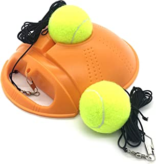 Linkin Sport Tennis Trainer Rebound Baseboard Self Tennis Training Tool Ball Back Training Gear with 2 String Balls