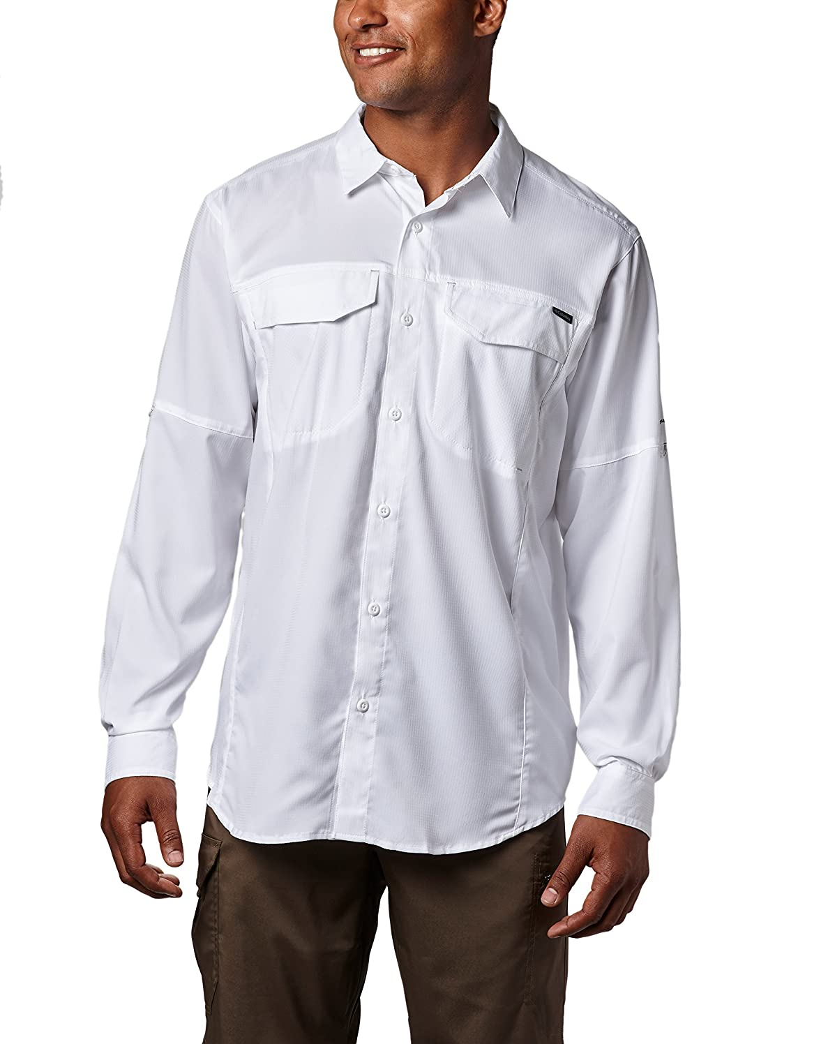 Columbia Men's Silver Ridge Lite Long Sleeve Shirt, UV Sun Protection, Moisture Wicking Fabric