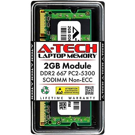A-Tech 2GB RAM for Gateway Notebook LT2022U DDR2 667MHz SODIMM PC2-5300 200-Pin Non-ECC Memory Upgrade Module