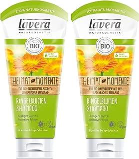 lavera Haar Shampoo Ringelblume  Seidiger Glanz & intensive Pflege  vegan  Bio Haarshampoo  Natural & innovative Hair Care  Naturkosmetik  Haarpflege 2er Pack 2 x 200 ml