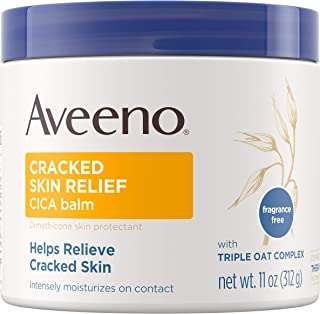 Aveeno Cracked Skin Relief Balm 11 Ounce Jar (Pack of 2)