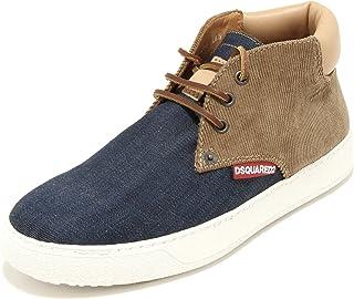 DSQUARED 9479G Sneakers Polacchino Uomo D2 Jeans Velluto Scarpe Shoes Men