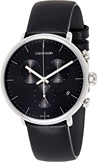 Calvin Klein Men's Quartz Watch, Analog Display and Leather Strap K8M271C1