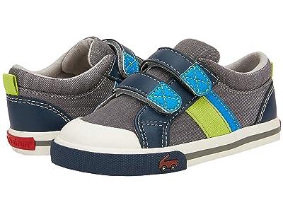 See Kai Run Kids Russell (Toddler/Little Kid) (Gray/Blue) Boys Shoes