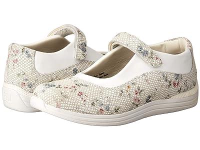 Drew Rose (White Floral Snake Print Leather) Women