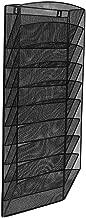 AdirOffice Steel Mesh Magazine Wall Rack - Functional Opaque Magazine Organizer - Great for Lobbies Reception Areas & More (10 Pocket, Black)