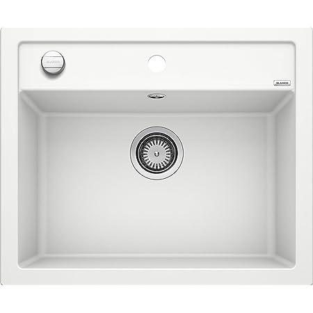 BLANCO DALAGO 6 – Évier au Design Moderne pour Sous-meubles de 60 cm de large – En Composite de Granit SILGRANIT – Blanc – 514199