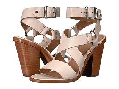 Frye Sara Harness Sandal (Off-White) High Heels