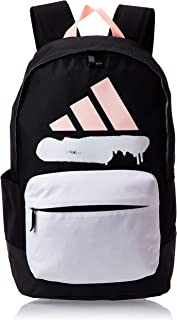 adidas Womens Classic W Graphics Backpack, Black/White/Haze Coral