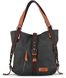 c6f0b63db206b SHANGRI-LA Purse Handbag for Women Canvas Tote Bag Casual Shoulder Bag  School Bag Rucksack