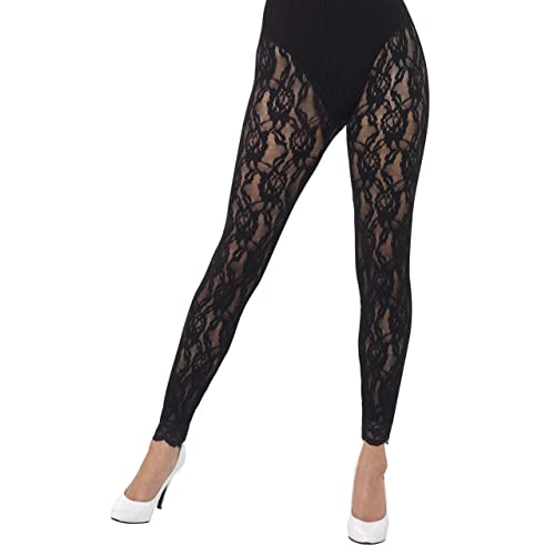 bb2b95eda5 Smiffys 44512 80s Lace Leggings (One Size)