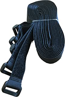 5x velcro bandas klettgurte con hebilla/ojete–Velcro Expander cinta de Velcro–100% Nylon duradero & Resistente–zurren, fijar–Diseño camping presupuesto Taller–Extra Largo