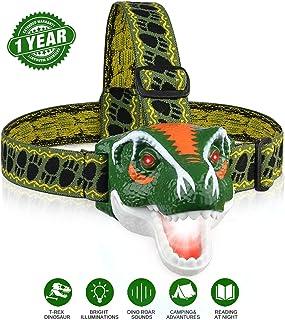 BROADREAM Headlamp, T-Rex Dinosaur Toys LED Headlamp for...