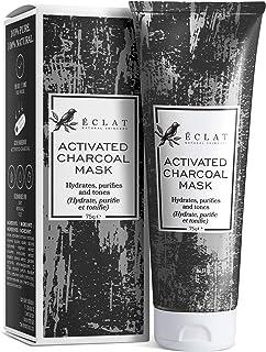 Mascarilla de Carbón Facial Eclat – Mascarilla Facial Carbón Activo con Carbón de Bambú Natural y Mezcla de 4 Arcillas Inc...