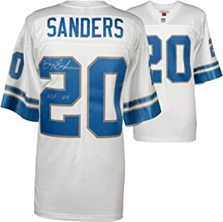 Barry Sanders Detroit Lions Autographed White Mitchell & Ness Replica Jersey with