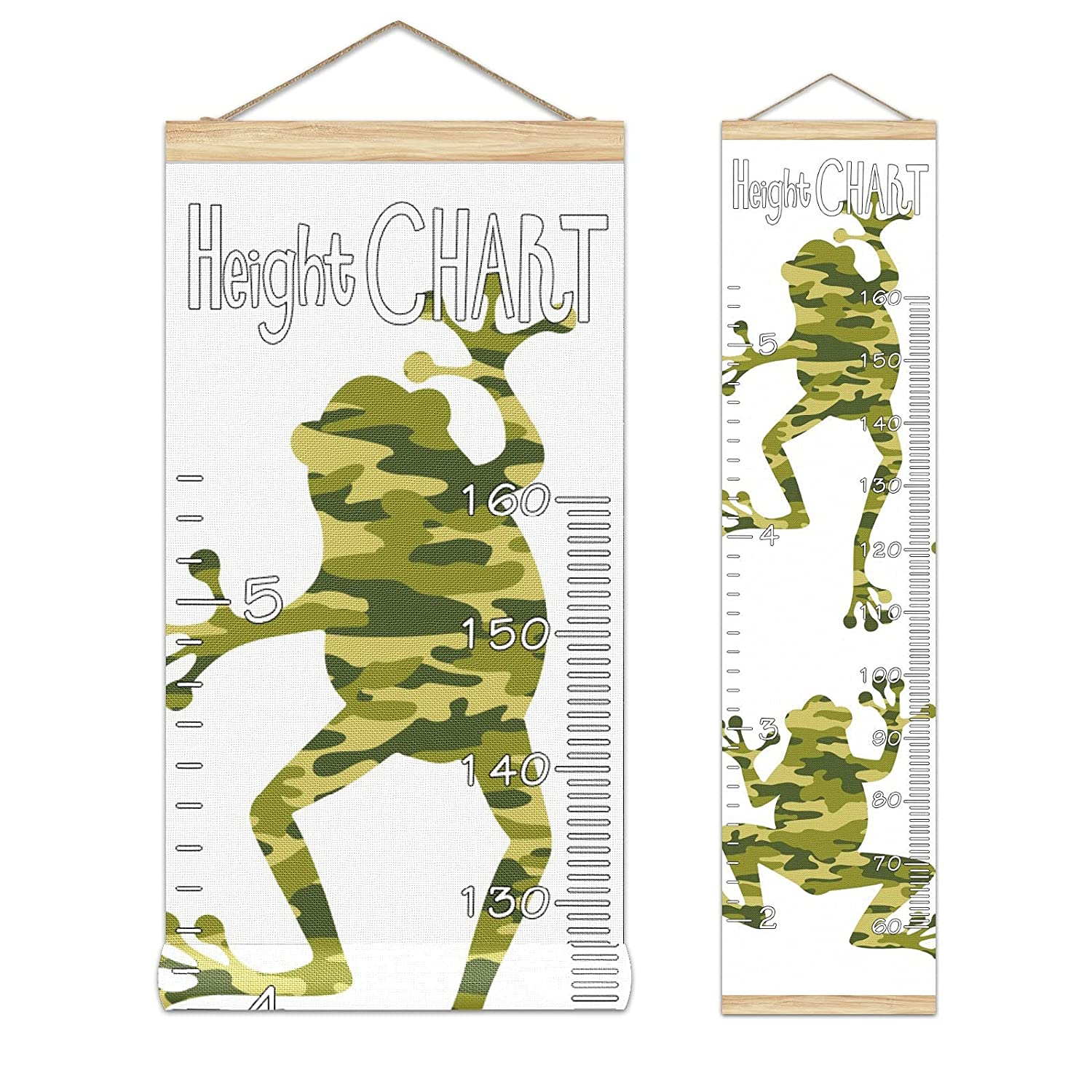 Kids Max 60% OFF Growth Chart Hanging Ruler Silhouette Frog Hei Limited price Roll-up Camo