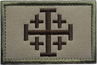 SpaceCar Jerusalem Cross Crusader Order Holy Sepulchre Tactical Morale Cross Embroidered Patch 3.14