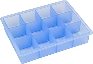 Lurch Germany 1.5 x 1.5 Inch Silicone Ice Cube Tray, Blue