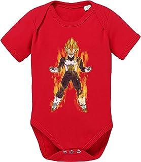 Sambosa Vegeta Fire Dragon Son Baby Ball Strampler Goku Bio Baumwolle Body Jungen & Mädchen 0-12 Monate