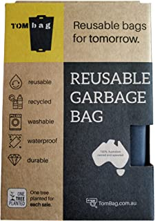 Reusable Bags for Garbage - Eco Friendly Kitchen Tidy Bag Made with Recycled PET Bottles - Waterproof, Durable & Washable ...