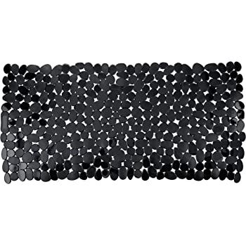 Wenko Paradise Alfombra para Bañera, Negro, 71x36x3 cm