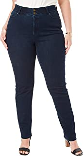 Women's Plus Size Tall Tummy Control Straight Jean