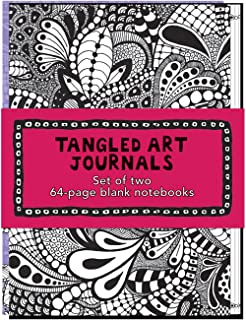 Tangled Art Journals: Set of two 64-page blank notebooks