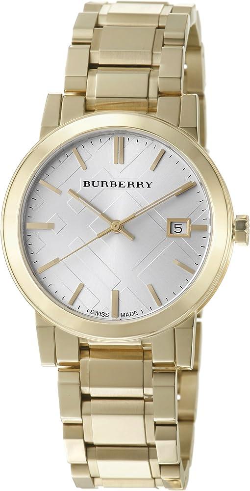 Burberry ,orologio per uomo,in acciaio inossidabile,colore oro BU9003