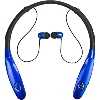 Amazon Com Bluetooth Headphones 14hr Working Time Truck Driver Bluetooth Headset Wireless Magnetic Neckband Earphones V4 2 Noise Cancelling Earbuds W Mic Compatible With Any Bluetooth Equitments Blue Home Audio Theater