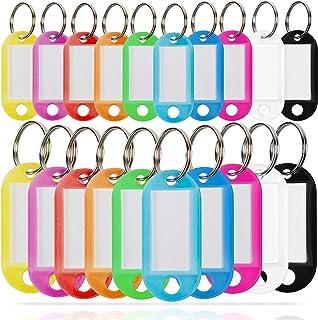 WINTEX® Schlüsselschilder 100 Stück – mit auswechselbarem Etikett, witterungsbeständig – Schlüsselanhänger, Schlüsselbesch...