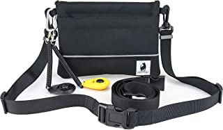 CLICKER MARKER TRAINING TREAT BAIT POUCH - STAY OPEN AND SHUT HINGE - BELT CLIP REMOVABLE OR WAIST STRAP - BAG INCLUDES CLICKER DOG PUPPY K9 CANINE HORSE BIRD CAT FERRET PROFESSIONAL OR NEW TRAINER
