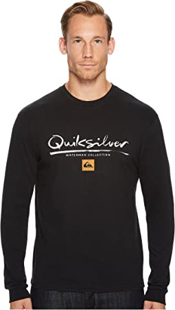 Quiksilver Waterman - Wordmark Long Sleeve Tee