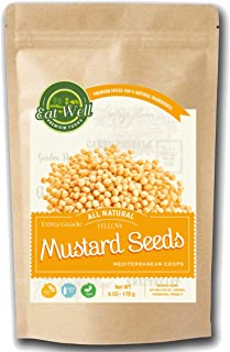Eat Well Premium Foods - Mustard Seeds 6oz / 170 g - Mustard Seed for Pickling & Cooking -100% Natural & Non-GMO , Whole Y...