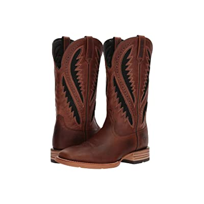 Ariat Quickdraw Venttek (Caramel/Two-Tone Brown) Cowboy Boots
