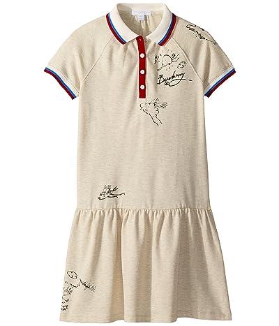 Burberry Kids Cali N 2 BLY Dress (Little Kids/Big Kids) (White Melange) Girl