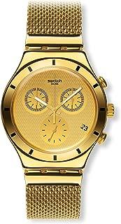 Swatch Unisex Chronograph Quartz Watch with Stainless Steel Strap YCG410GB