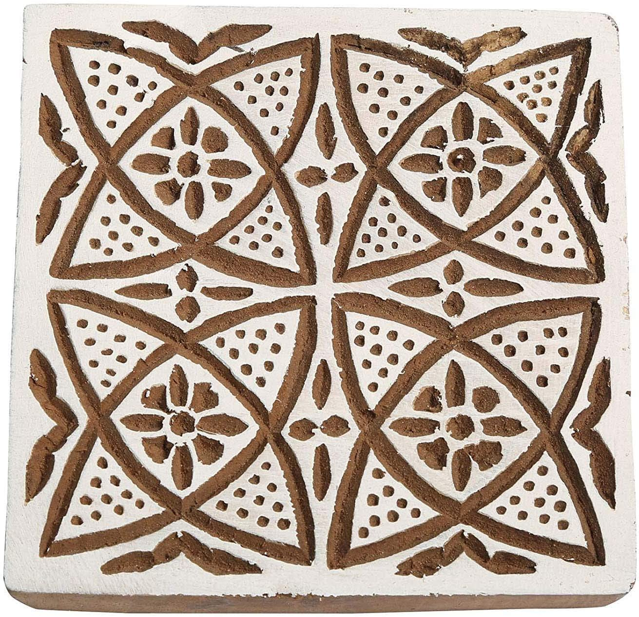 All items free shipping Sharvgun Decorative Wooden Printing Block Brown Indian Woode Max 79% OFF New