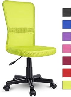 comprar comparacion TRESKO Silla de Oficina Escritorio giratoria, Disponible en 7 Variantes de Colores, con Ruedas para Suelos Duros, Regulabl...